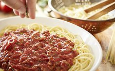Spaghetti with Meat Sauce**