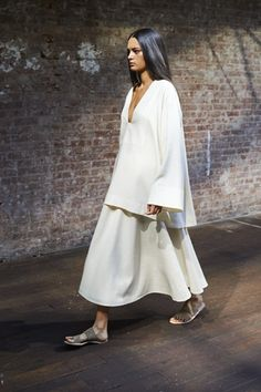 THE ROW | Collection - Spring 2015 Runway Looks -  Would wear top as a dress.