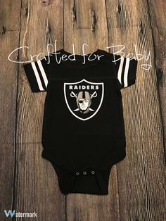 Oakland Raiders Baby Toddler Child Onesie by CraftedforBaby