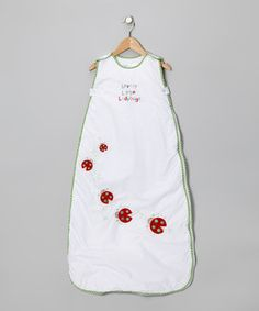 The Dream Bag White Lovely Little Ladybugs Sleeping Sack - Infant by The Dream Bag #zulily #zulilyfinds