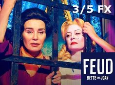 """'Feud' TV show: Susan Sarandon and Jessica Lange face off in full-length trailer. Susan Sarandon and Jessica Lange face off in a first, full-length trailer for """"Feud"""" released Tuesday. American Horror Story, American Crime Story, Joan Crawford, Netflix, Stockholm, Feud Bette And Joan, Star Gossip, Baby Jane, Ryan Murphy"""