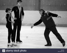 Coach Stanislav Zhuk right and his students Sergei Grinkov and Yekaterina Gordeyeva world champions in 1986 and silver winners.