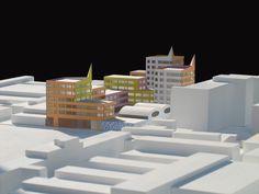 Mendini - progetto in via Durando, Milano - 1:500
