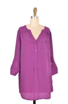 Lane Bryant Purple V-neck Blouse Size 14/16 | ClosetDash #fashion #style #tops #blouse