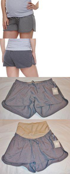 30b3fec659205 Shorts 15747: A:Glow Maternity Full Panel Knit Lounge Shorts - Size S (4-6)  - Nwt -Gray -> BUY IT NOW ONLY: $16.99 on #eBay #shorts #maternity #panel #  ...