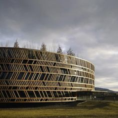 Alésia Museum visitor's centre, France, by Bernard Tschumi Architects {that facade design would make a great bangle or cuff} Architecture Design, Facade Design, Gothic Architecture, Amazing Architecture, Dezeen Architecture, Museum Architecture, Patio Circular, Bernard Tschumi, Circular Buildings