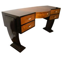 Unique Custom Original Hollywood Art Deco inspired Desk | From a unique collection of antique and modern desks at http://www.1stdibs.com/furniture/storage-case-pieces/desks/