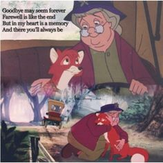 The Fox and the Hound. Such a sad scene. I cry every time.