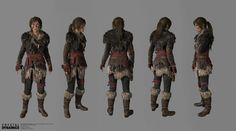 ArtStation - Rise of The Tomb Raider, Apex Predator Costume , mike svymbersky