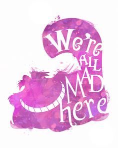 Alice in Wonderland Cheshire Cat 8x10 Poster - DIGITAL DOWNLOAD / Instant…