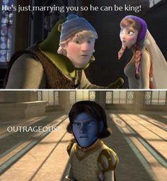 Shrek and frozen :P