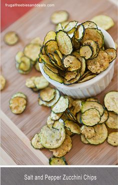 Repinned: Salt and Pepper Zucchini Chips!! So yummy and healthy!
