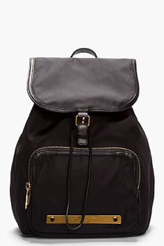 Marc By Marc Jacobs Black Work It Baby Got Backpack for women | SSENSE