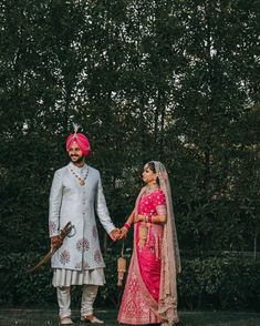 Best Of Punjabi Groom Outfits That You Must Bookmark For Your Wedding Indian Wedding Couple, Sikh Wedding, Wedding Attire, Wedding Couples, Wedding Dresses, Groom Wear, Groom Outfit, Groom Attire, Blue Sherwani