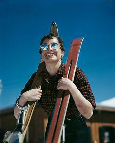 Robert Capa : l'Américaine Judith Stanton, Zermatt, Suisse,1950. Robert Capa / International Center of Photography / Magnum Photos.