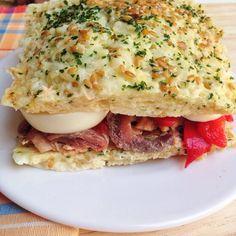 Receta: sándwich bajo en HC