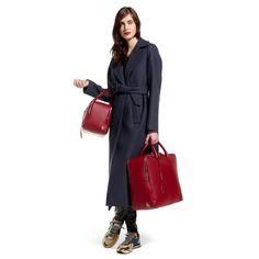 Long coat in cloth wool - G27D030.A1 - Golden Goose