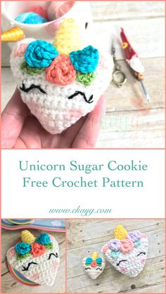 Unicorn Sugar Cookie, Free Crochet Pattern