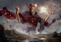 MtG Art: Phenax, God of Deception from Born of the Gods Set by Ryan Barger - Art of Magic: the Gathering Dark Fantasy Art, Fantasy Artwork, Fantasy Kunst, Magic The Gathering, Mtg Art, Ange Demon, Arte Obscura, Fantasy Illustration, Fantasy Inspiration