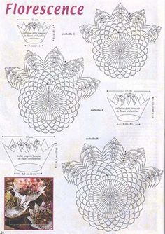 Christmas Crochet Patterns - Beautiful Crochet Patterns and Knitting Patterns Crochet Motifs, Crochet Diagram, Crochet Chart, Thread Crochet, Crochet Doilies, Crochet Flowers, Crochet Stitches, Crochet Bowl, Crochet Basket Pattern