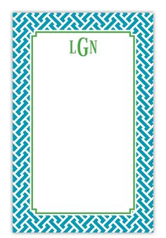 Preppy monogrammed notepad sets at www.ginnymaries.com