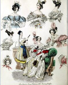 The World of Fashion and Continental Feuilletons 1836 Plate 13