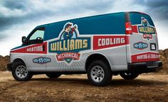 Fleet wrap design for an HVAC company in New Mexico. Vehicle Signage, Vehicle Lettering, Eco Friendly Cars, Van Wrap, Vans Logo, Cool Vans, Lifted Ford Trucks, Truck Design, Commercial Vehicle