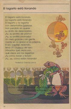 Garcia Lorca. que bellos recuerdos, esto lo vi en la primaria, y resulta que es de Lorca!