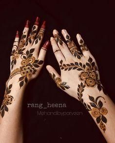 Pretty Henna Designs, Latest Henna Designs, Floral Henna Designs, Finger Henna Designs, Basic Mehndi Designs, Mehndi Designs For Beginners, Mehndi Design Photos, Wedding Mehndi Designs, Mehndi Designs For Fingers