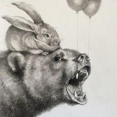 Adonna Khare ArtistBunny and bear