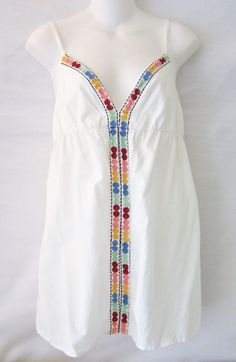 #EllaMoss #TankCami #Casual Ella Moss 100% solid #white #cotton V-neck #sleeveless spaghetti strap #cami #camisole style tank top #tee #shirt #blouse with multi-colored #flower #floral #embroidery #design #embellishment #adornment #decoration and loose, flowy fit in #womens #ladies #misses size small/S, excellent used condition http://www.ebay.com/itm/ELLA-MOSS-WHITE-FLORAL-EMBROIDERED-CAMI-TANK-SHIRT-TOP-BLOUSE-WOMENS-SIZE-SMALL-/141380609141?pt=US_CSA_WC_Shirts_Tops&hash=item20eaf0e475