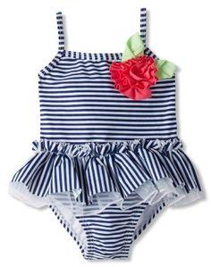 Amazon.com: Little Me Baby-Girls Infant Stripe Swimsuit: Clothing