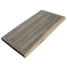 a charming reclaimed teak doormat that also makes an excellent floor mat for your shower or - Teak Shower Mat