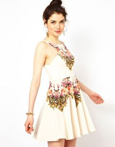 Asos Ginger Fizz Prom Dress In From Paris With Love Print on shopstyle.com