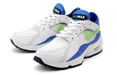Air Max 93  Year Introduced: 1993  Not as beloved as the 1990 and 1995 iterations that bracketed it, the 1993 Air Max remains an underappreciated classic. The fit was superb thanks to a neoprene liner, and the Max was more than the 90's and less than the '95's, AKA just right. These might never truly get their just due, but hopefully this is a start.