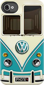 NEW Blue Volkswagen VW with chrome logo iphone 4 4s, iPhone 3Gs, iPod Touch 4g case by Pointsale store
