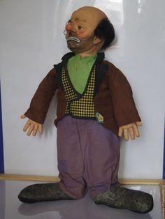 Винтажные куклы и игрушки. Винтажная  кукла Emmett Kelly Clown. Новая жизнь старых кукол. Интернет-магазин Ярмарка Мастеров.