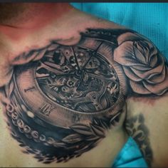 Clock tattoo by Johnny Smith