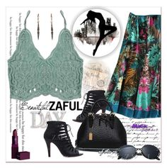 """""""ZAFUL"""" by newoutfit ❤ liked on Polyvore featuring Lipstick Queen and zaful"""