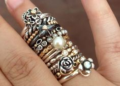 Some of my rings. <3 two-tones! - Yasmeen