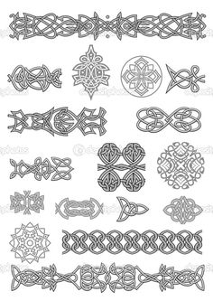 Celtic ornaments and patterns — Stock Illustration #15760303