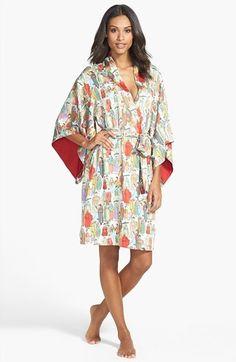 Natori  Dynasty  Microsatin Short Robe Sleepwear Women 57e0b4031