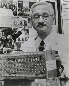 August 26, 1906: Birth of Polio Scientist Albert Sabin    On this day in 1906, Albert Sabin, best known for his development of an oral polio vaccine, was born in Poland. He attended medical school at New York University in 1931 and went on to work with other notable scientists like Jonas Salk to find a cure for polio.