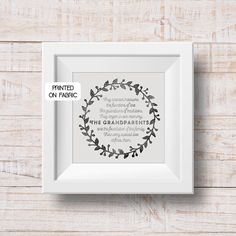 Grandparents quote hand printed on fabric will show your love to granny and grand dad by My Home and Yours Colorful Interior Design, Colorful Interiors, Granny Pod, Aging Parents, 50th Wedding Anniversary, Color Psychology, Fabric Art, Accent Colors, Tool Design