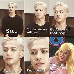 Lets go Jackson Kdrama Memes, Funny Kpop Memes, Exo Memes, Cute Memes, Got7 Funny, Got7 Meme, Hilarious, Got7 Jackson, Jackson Wang