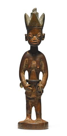 Yoruba Twin Figure, Oyo, Nigeria Ere Ibeji Height: 9 7/8 in (25 cm) Collected in situ by Prof. Peter Morton-Williams in 1955