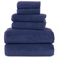7 Piece Bath Towel Set Bonus Bath Mat 100/% Ring Spun Cotton Solid Towels 500 GSM