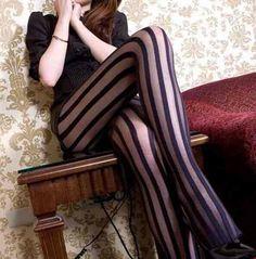f956bd917 Meia Calça Listrada  meia  calça  preta  estampada  listras  listrada