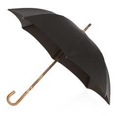 Pasotti men's italian handmade umbrella with ash handle and black with beige dots canopy ( art.4006 ), $239