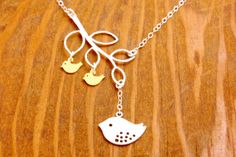 Family Necklace  mother necklace mom of twins mom by MegusAttic, $34.00